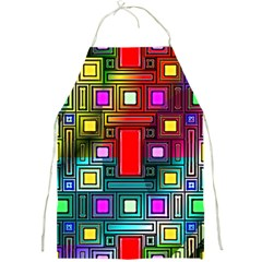 Art Rectangles Abstract Modern Art Full Print Aprons