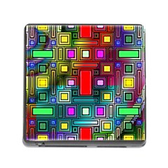 Art Rectangles Abstract Modern Art Memory Card Reader (Square)