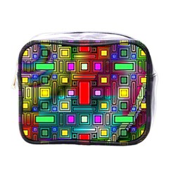 Art Rectangles Abstract Modern Art Mini Toiletries Bags
