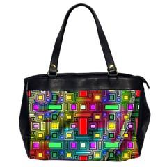 Art Rectangles Abstract Modern Art Office Handbags (2 Sides)