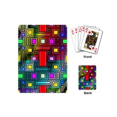 Art Rectangles Abstract Modern Art Playing Cards (Mini)