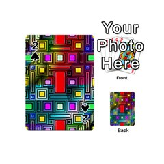 Art Rectangles Abstract Modern Art Playing Cards 54 (Mini)