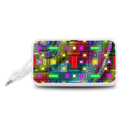 Art Rectangles Abstract Modern Art Portable Speaker (White)