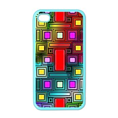 Art Rectangles Abstract Modern Art Apple iPhone 4 Case (Color)