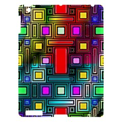 Art Rectangles Abstract Modern Art Apple iPad 3/4 Hardshell Case