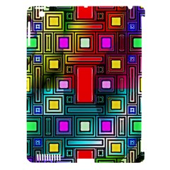 Art Rectangles Abstract Modern Art Apple iPad 3/4 Hardshell Case (Compatible with Smart Cover)