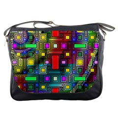 Art Rectangles Abstract Modern Art Messenger Bags