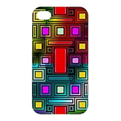 Art Rectangles Abstract Modern Art Apple iPhone 4/4S Premium Hardshell Case