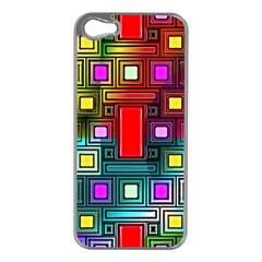 Art Rectangles Abstract Modern Art Apple iPhone 5 Case (Silver)