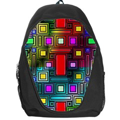 Art Rectangles Abstract Modern Art Backpack Bag