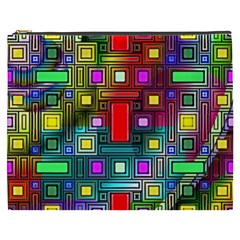 Art Rectangles Abstract Modern Art Cosmetic Bag (XXXL)