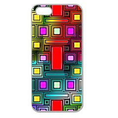 Art Rectangles Abstract Modern Art Apple Seamless iPhone 5 Case (Clear)