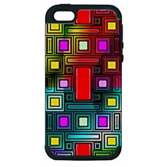 Art Rectangles Abstract Modern Art Apple iPhone 5 Hardshell Case (PC+Silicone)