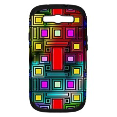 Art Rectangles Abstract Modern Art Samsung Galaxy S III Hardshell Case (PC+Silicone)