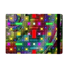 Art Rectangles Abstract Modern Art Apple iPad Mini Flip Case