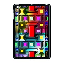 Art Rectangles Abstract Modern Art Apple iPad Mini Case (Black)