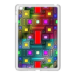 Art Rectangles Abstract Modern Art Apple iPad Mini Case (White)