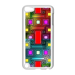 Art Rectangles Abstract Modern Art Apple iPod Touch 5 Case (White)