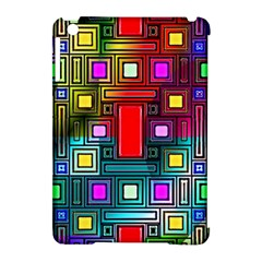 Art Rectangles Abstract Modern Art Apple iPad Mini Hardshell Case (Compatible with Smart Cover)