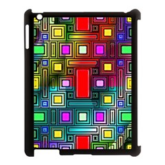Art Rectangles Abstract Modern Art Apple iPad 3/4 Case (Black)