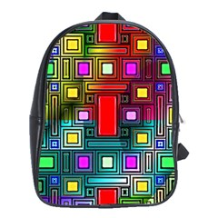 Art Rectangles Abstract Modern Art School Bags (XL)