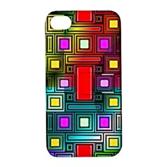 Art Rectangles Abstract Modern Art Apple iPhone 4/4S Hardshell Case with Stand