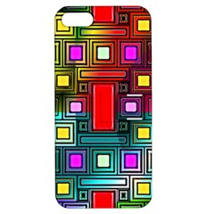 Art Rectangles Abstract Modern Art Apple iPhone 5 Hardshell Case with Stand