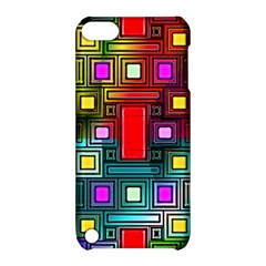 Art Rectangles Abstract Modern Art Apple iPod Touch 5 Hardshell Case with Stand