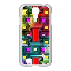 Art Rectangles Abstract Modern Art Samsung GALAXY S4 I9500/ I9505 Case (White)