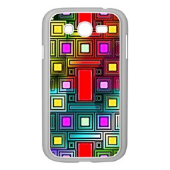 Art Rectangles Abstract Modern Art Samsung Galaxy Grand DUOS I9082 Case (White)