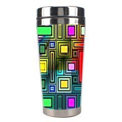 Art Rectangles Abstract Modern Art Stainless Steel Travel Tumblers