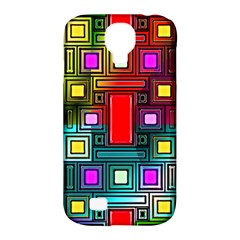 Art Rectangles Abstract Modern Art Samsung Galaxy S4 Classic Hardshell Case (PC+Silicone)