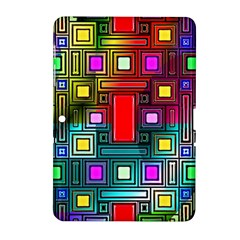 Art Rectangles Abstract Modern Art Samsung Galaxy Tab 2 (10.1 ) P5100 Hardshell Case