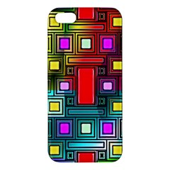 Art Rectangles Abstract Modern Art iPhone 5S/ SE Premium Hardshell Case