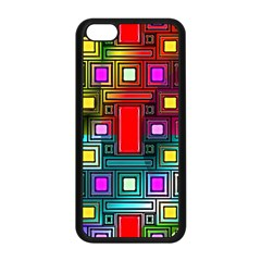 Art Rectangles Abstract Modern Art Apple iPhone 5C Seamless Case (Black)