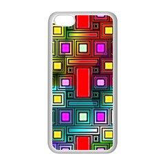 Art Rectangles Abstract Modern Art Apple iPhone 5C Seamless Case (White)