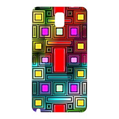 Art Rectangles Abstract Modern Art Samsung Galaxy Note 3 N9005 Hardshell Back Case