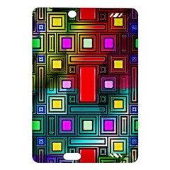 Art Rectangles Abstract Modern Art Amazon Kindle Fire HD (2013) Hardshell Case