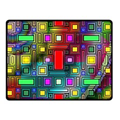 Art Rectangles Abstract Modern Art Double Sided Fleece Blanket (Small)