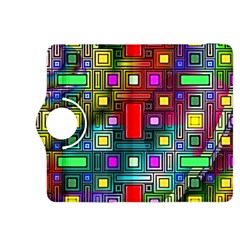 Art Rectangles Abstract Modern Art Kindle Fire HDX 8.9  Flip 360 Case