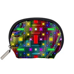 Art Rectangles Abstract Modern Art Accessory Pouches (Small)