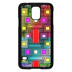 Art Rectangles Abstract Modern Art Samsung Galaxy S5 Case (Black)
