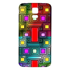 Art Rectangles Abstract Modern Art Samsung Galaxy S5 Back Case (White)