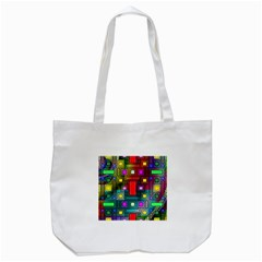 Art Rectangles Abstract Modern Art Tote Bag (White)