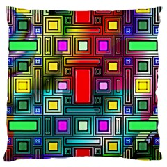 Art Rectangles Abstract Modern Art Large Flano Cushion Case (One Side)