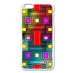 Art Rectangles Abstract Modern Art Apple iPhone 6 Plus/6S Plus Enamel White Case