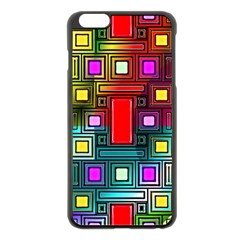 Art Rectangles Abstract Modern Art Apple iPhone 6 Plus/6S Plus Black Enamel Case