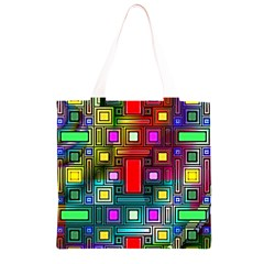 Art Rectangles Abstract Modern Art Grocery Light Tote Bag