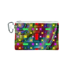 Art Rectangles Abstract Modern Art Canvas Cosmetic Bag (S)