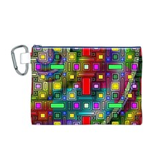 Art Rectangles Abstract Modern Art Canvas Cosmetic Bag (M)